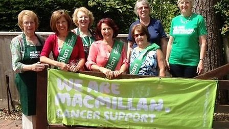 Macmillian Cancer Care fundraisers at the group's garden party in Sidmouth