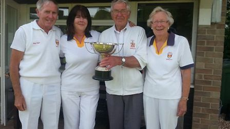 The Sidmouth team that returned from Honiton with a trophy