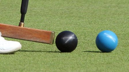 Budleigh Croquet Club played host to the over '60's national veteran's championships. Wendy Domingue
