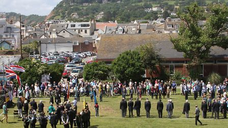 A service was held on the Ham to mark the Sidmouth Armed Forces Day on Saturday. Photo by Simon Horn