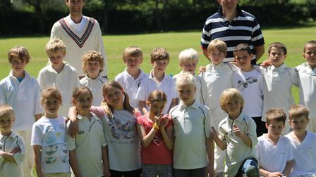 Sidbury and Ottery St Mary Under-8s after their recent meeting