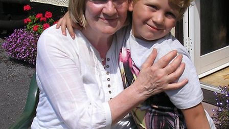Grandmother-of-nine Valerie Bettag with her youngest grandchild, Kieran