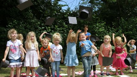Children from Appletree enjoyed a graduation service on Tuesday to mark the end of their time with t