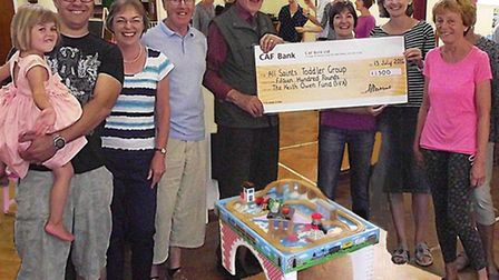 All Saints Toddler Group has received £2,150 from the Keith Owen Fund