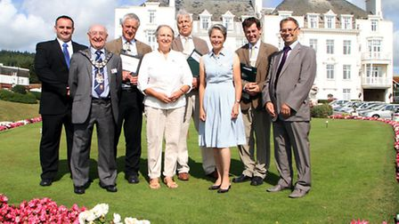 Sidmouth In Bloom judging. Picture by Alex Walton. Ref shs 0349-32-14AW. To order your copy of this