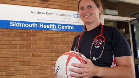 Sidmouth Health Centre doctor, Dr Sally Dutson, has flown out to Botswana as the England netball tea