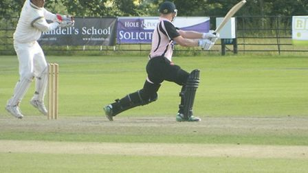 Exmouth's Seb Benton hits out in the T20 arae final