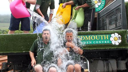 Ian Barlow and James Trevett from The Sidmouth Garden Centre were challenged by the Sidmouth Herald