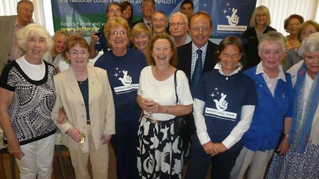 The Sid Valley Memory Café with their 'Moments in Time' bid