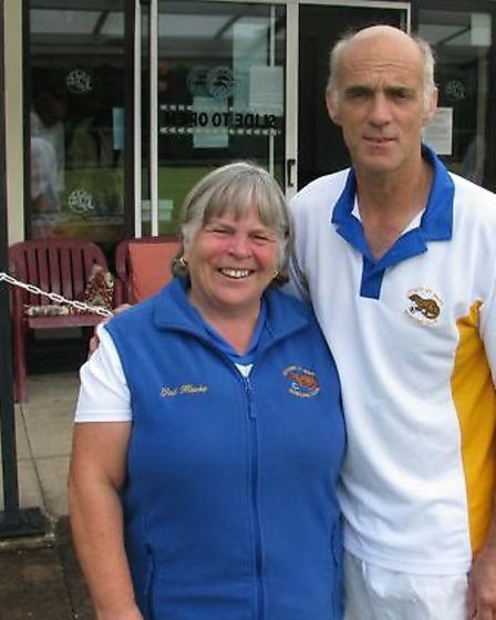 Ottery St Mary's 2014 Club Champions Gail Hawke and Dave Brown,
