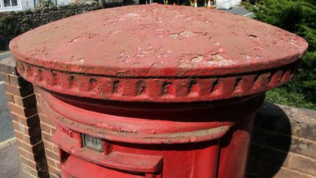 Sidmouth In Bloom group are angry at the state of the Sidford post box. Ref shs 5786-38-14SH. Pictur