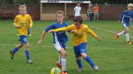 Action from the Ottery St Mary Under-11s