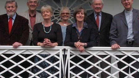 Tom Flynn pictured second from the right in 2010 at the opening of Kennaway House.