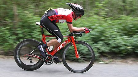 Doug Parker of Sid Valley Cyclists in full flight