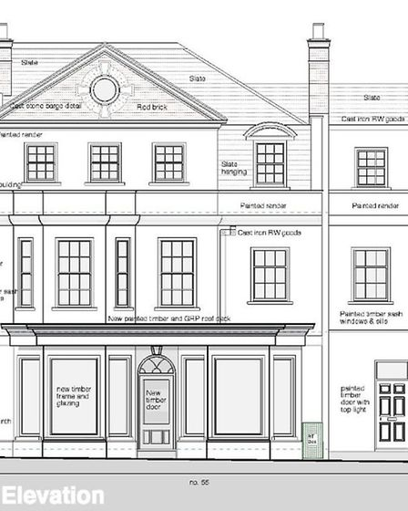 Plans for the former SES shop in Sidmouth High Street