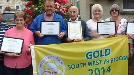 Beer Horticultural Society and certificate winners celebrate their win after recieveing gold at Sout