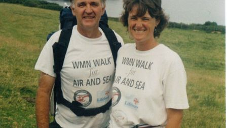 Jo Earlam with her dad, who inspired her to organise Following Footsteps