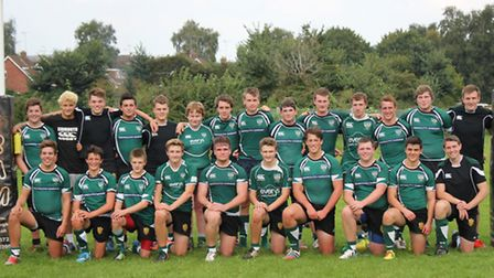 Sidmouth Colts line-up before the start of their pre-season game at Crediton that the young Chiefs w