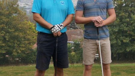 The finalists who contested the Sidmouth Golf Club Challenge Cup