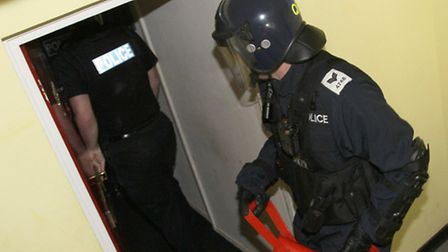 Police officers raided on a property in Sidford on Thursday morning. Ref shs 8921-42-14 Picture: Sid