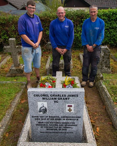 The team from AG Real and Son who restored the grave