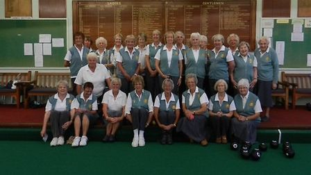 Sidmouth lady bowlers