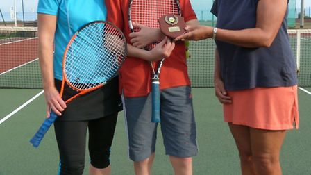 The winners of the Sidmouth tennis tournament