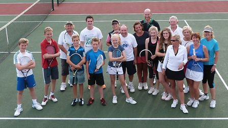 Sidmouth tennis club members who took part in the tournament last weekend