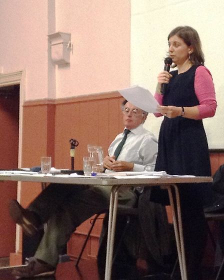 The meeting was organised by Cllrs Claire Wright and Roger Giles