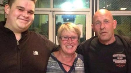 Senior member volunteer Chris Moore, area youth worker Penny Fildew and Alan fowler