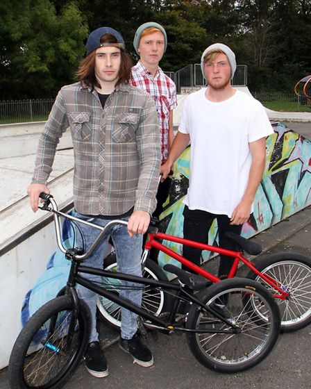 A group of Sidmouth skate park users have been praised for taking it upon themselves to tidy up the