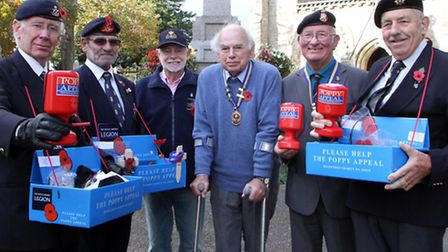 Poppy appeal organisers, Ralph Hickman, John Hayes, Chris Pink, Kim Smith, Dave O'Connor and Patrick