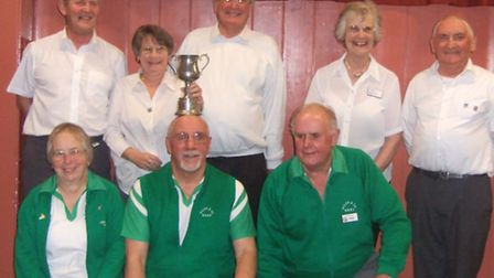 The Sunday winners at Ottery St Mary; (Back row, left to right); Brab Hallowes, Val and Phil Lucas,