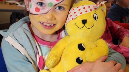 Sidbury Primary School pupils dressed up in stripes and spots for the day in aid of Children In Need