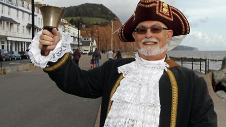 Steve Vernon, Sidmouths Town Crier for a day. Ref shs 8356-47-14TI Picture: Terry Ife