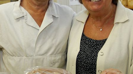 Shelia and Martin Kerridge are retiring from Vinnicombes bakers after forty two years. Ref shs 8898-