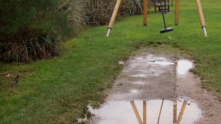 Pictures taken by Evelyn Mathews of the damage the rain has done to Ham playground