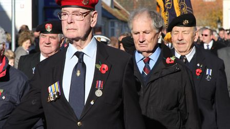 Sidmouth Remembrance Sunday. Ref shs 4153-46-13SH Picture: Simon Horn