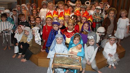 Sidmouth Primary School Nativity 2014. Ref shs 3521-50-14AW. Picture: Alex Walton.