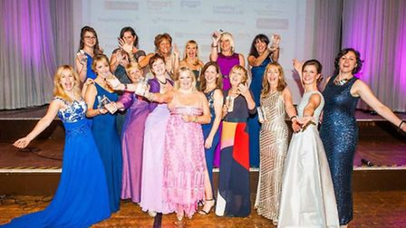 Linda Dillon and the other winners of the Devon Venus Awards