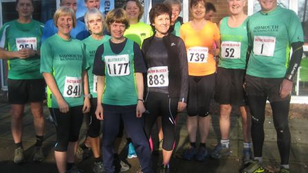 Sidmouth runners who took part in the 2014 Bicton Blister