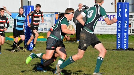 Action from the Sidmouth Colts big win at Teignmouth