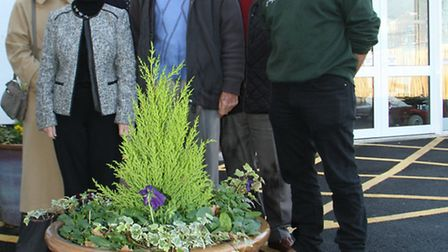 The Sidmouth Victoria Hospital have received plant pots paid for by the Keith Owen Fund and planted