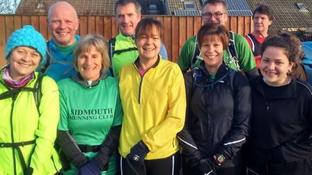 Sidmouth runners at the Blackdown Beast