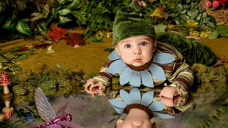 Six month old Rory poses in his winning picture at Willow Studios.