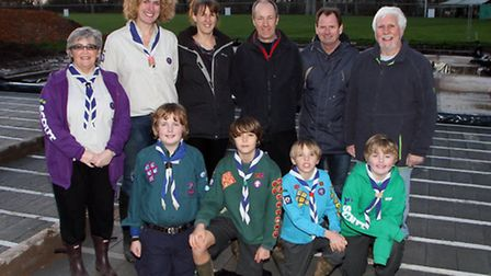 The foundations are laid for the Sidmouth Scouts group new hut. Ref shs 4915-02-15AW. Picture: Alex