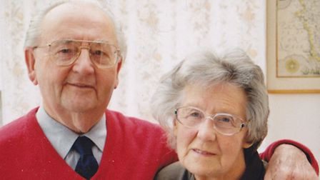 The family's last photograph of Bob and Noreen before she passed away in 2001.