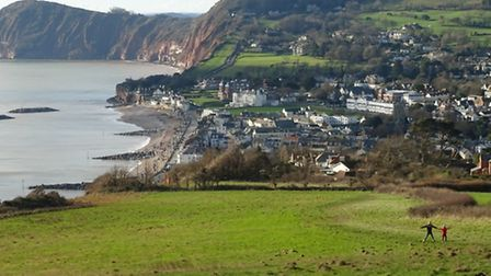 The view of Sidmouth from Salcombe Hill. Ref shs 0287-07-15SH. Picture: Simon Horn