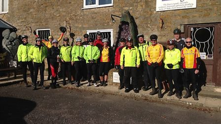 Axe Valley Pedallers on their February ride