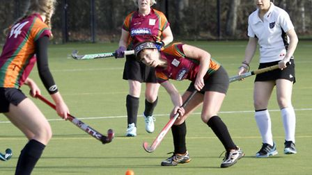 Sidmouth & Ottery ladies 4th at home to Dart 3. Ref shsp 1551-05-15TI. Picture: Terry Ife